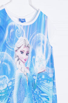 T-shirt con stampa Frozen strass, Bianco/Blu, hi-res
