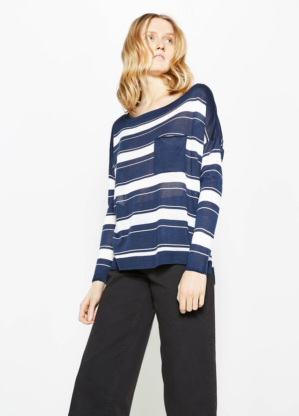 Striped pullover with small pocket | OVS