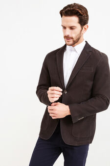 Two-button jacket with lapels, Brown, hi-res