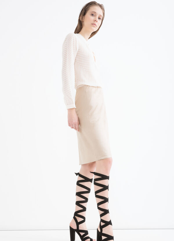 Suede look skirt. | OVS