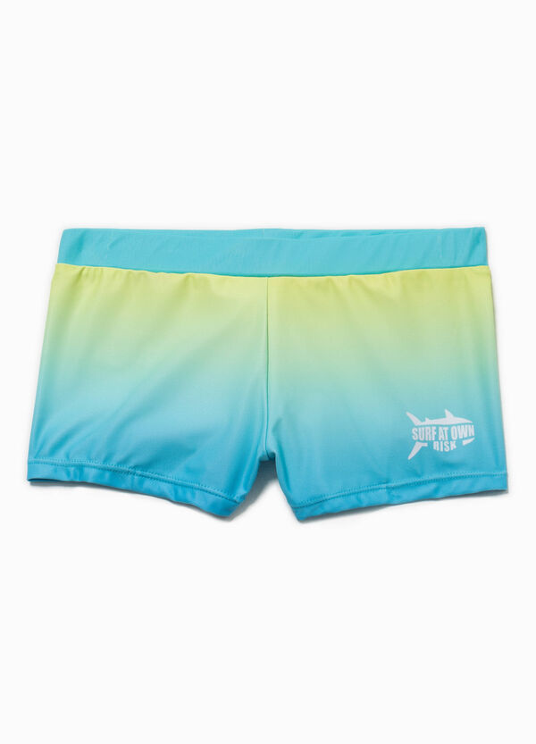 Printed faded-effect swim boxer shorts | OVS