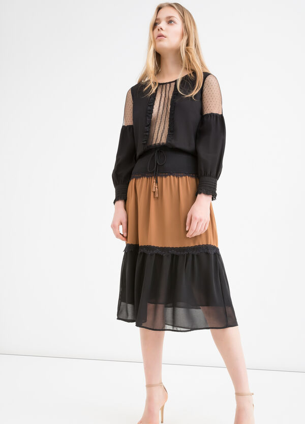 Two-tone midi skirt | OVS