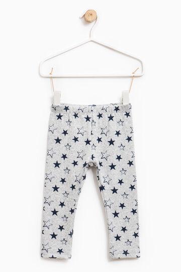 Pantalón elástico con fantasía, Gris jaspeado, hi-res