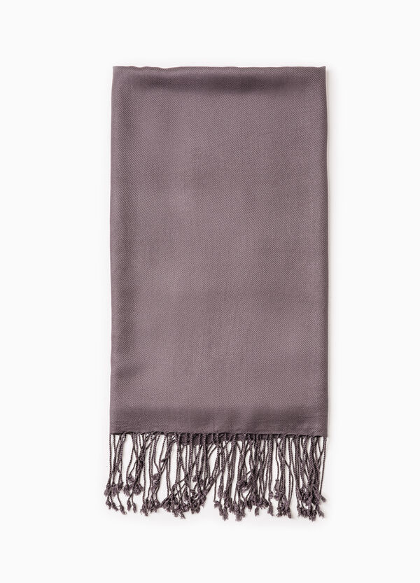Twill pashmina with long fringing | OVS