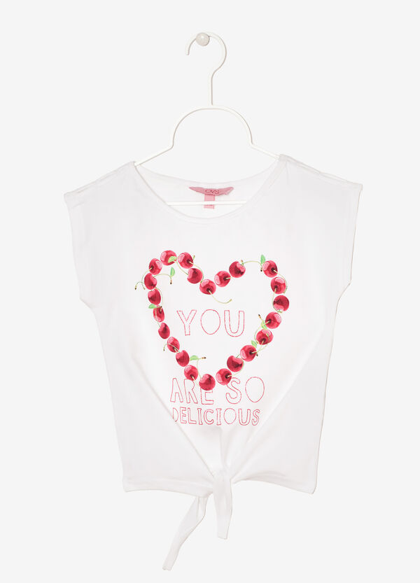 Sleeveless printed T-shirt | OVS