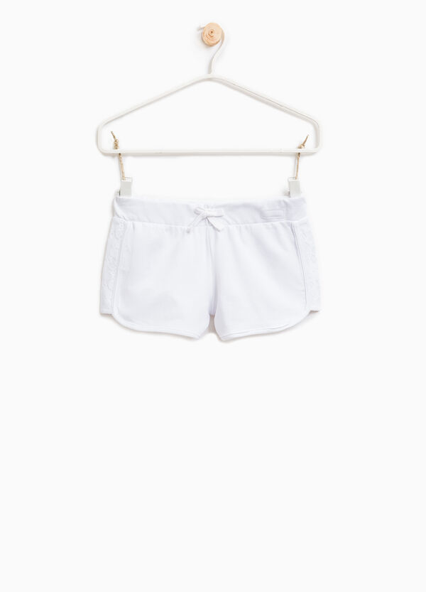 Shorts in 100% cotton with lace | OVS
