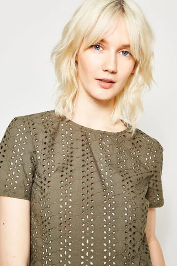 Openwork blouse with flounces
