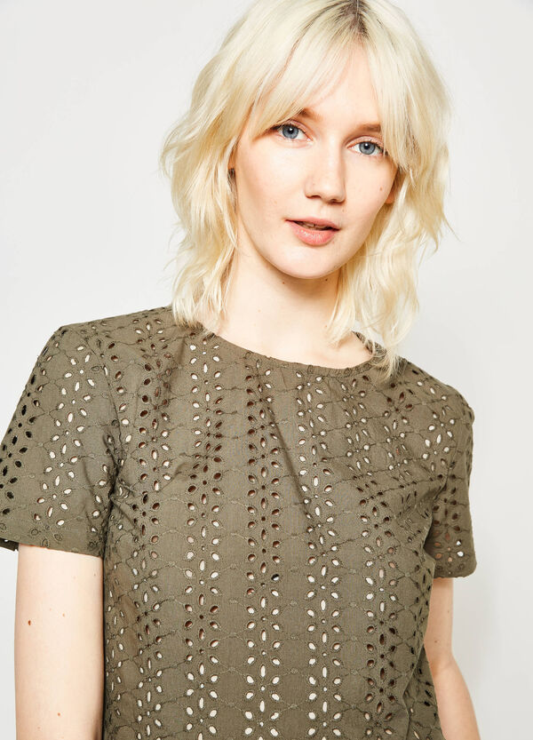 Openwork blouse with flounces | OVS