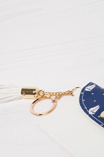 Printed keyring, White/Blue, hi-res