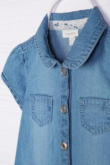 Vestitino di jeans con balze, Lavaggio chiaro, hi-res