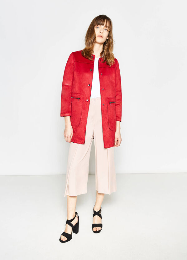 Suede jacket with pockets | OVS