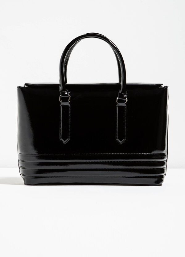 Glossy handbag with stitching | OVS