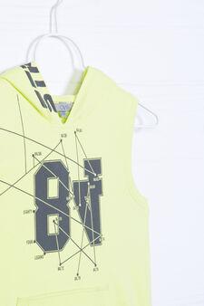 Printed vest in 100% cotton, Acid Yellow, hi-res
