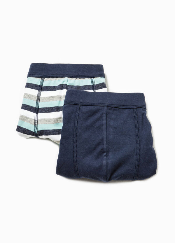 Two-pair pack solid colour and striped boxers | OVS