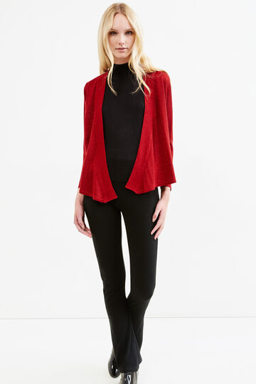 Viscose blend cardigan with lurex, Red, hi-res