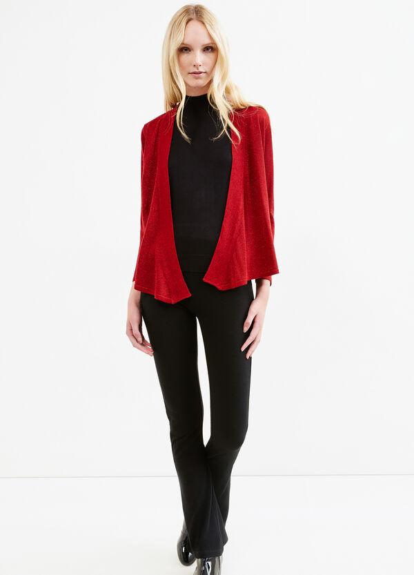 Viscose blend cardigan with lurex | OVS