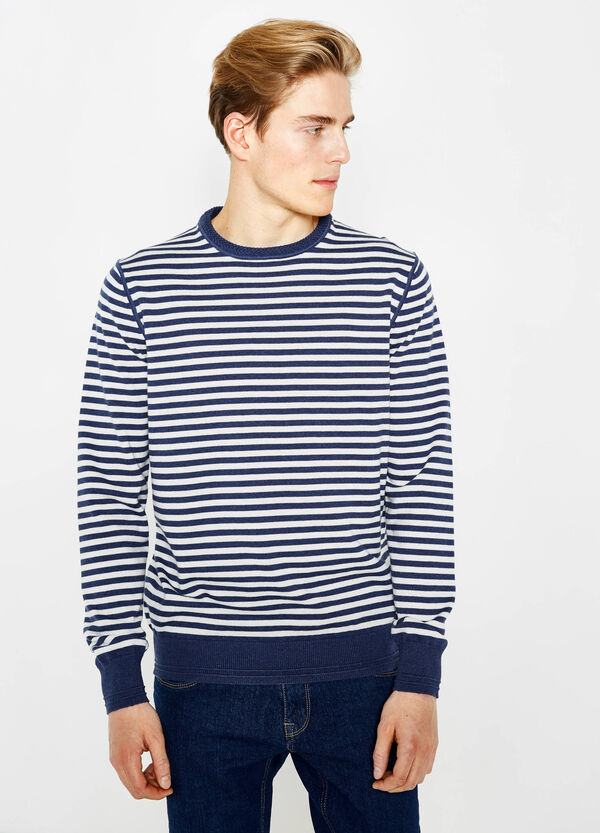 Striped round neck pullover | OVS