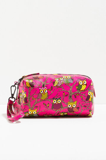 Clutch bag with all-over owl print