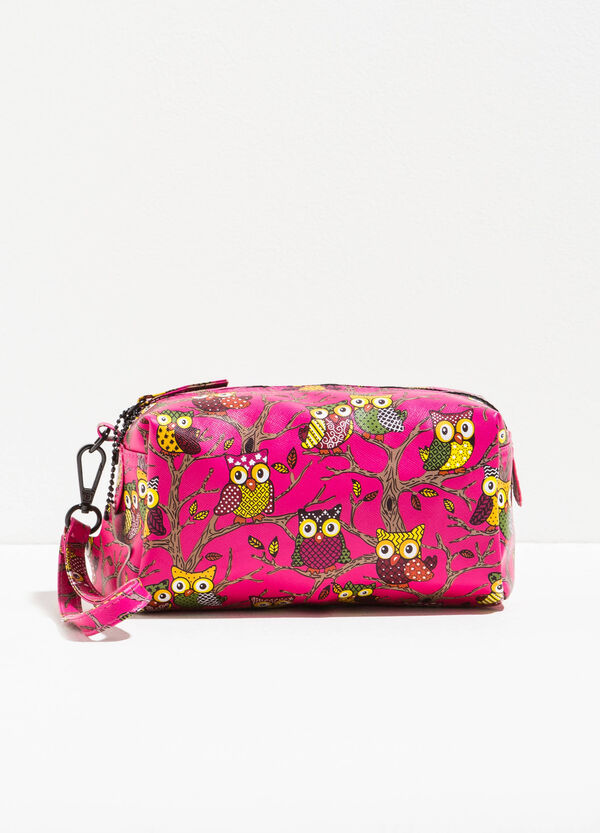 Clutch bag with all-over owl print | OVS