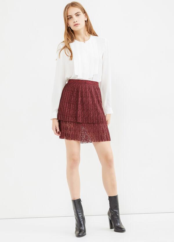Falda de talle alto en tul de color liso | OVS
