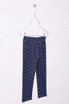 Stretch floral jeans, Denim, hi-res
