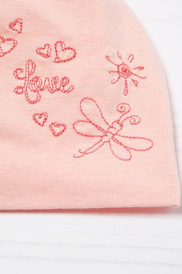 Embroidered cotton beanie cap