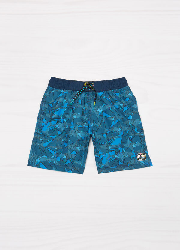 Swim boxer shorts with print by Maui and Sons | OVS