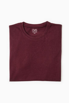 Cotton undershirt with crew neck, Red, hi-res
