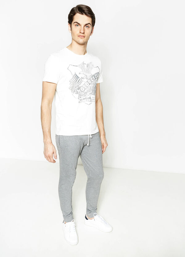 G&H printed joggers with ribbing | OVS