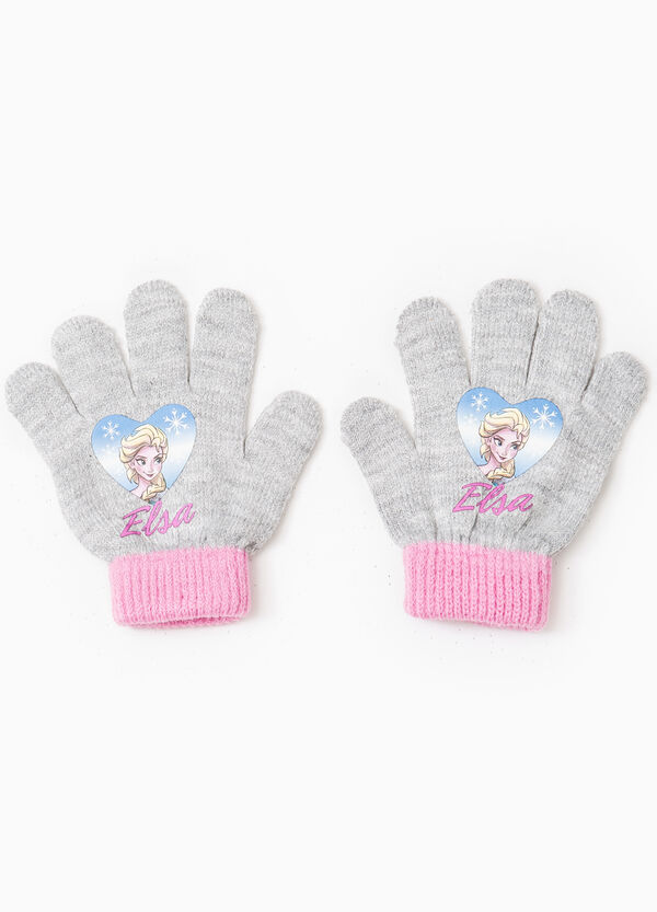 Solid colour gloves with Frozen print | OVS