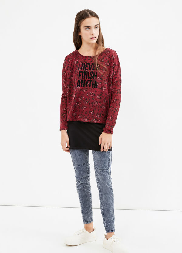Teen sweatshirt with floral pattern | OVS