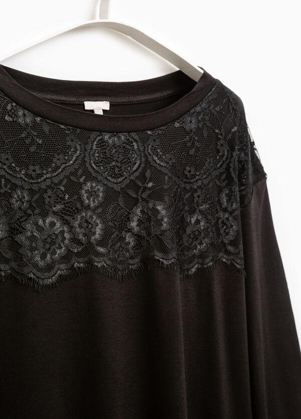 Smart Basic viscose T-shirt with lace | OVS