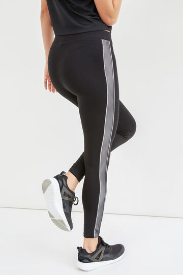 Pantaloni OVS Active Sport Training, Nero/Bianco, hi-res
