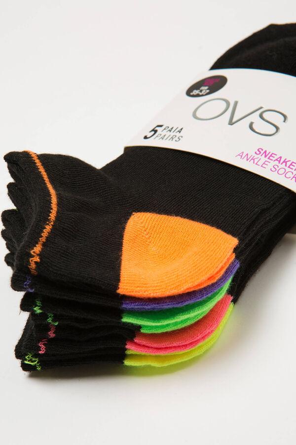 Set cinque calze corte tinta unita | OVS
