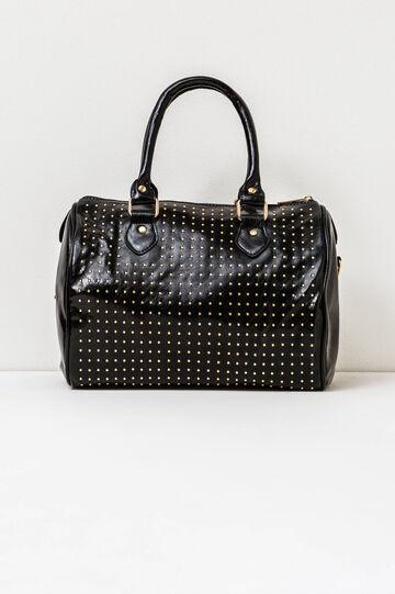 Handbag with studs, Black, hi-res