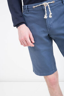 G&H stretch Bermuda shorts with drawstring, Deep Blue, hi-res