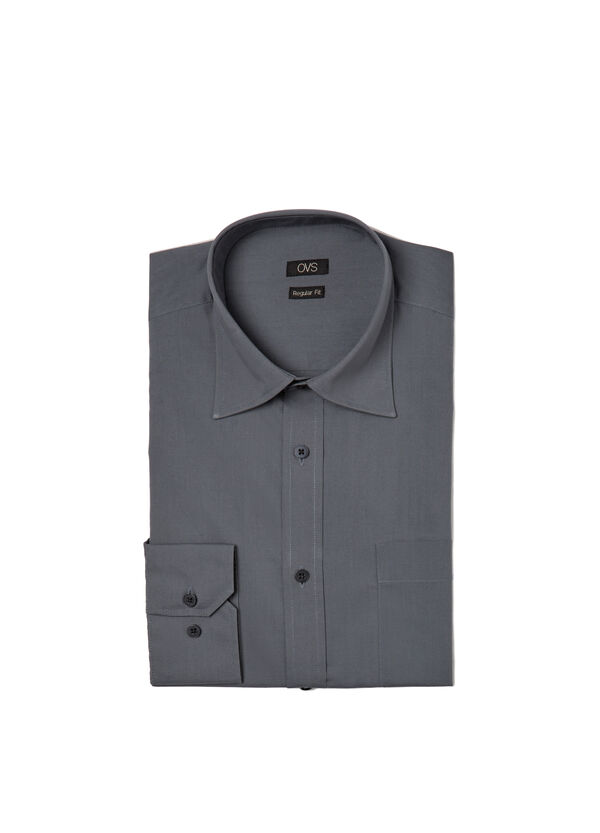 Camicia regular fit misto cotone | OVS