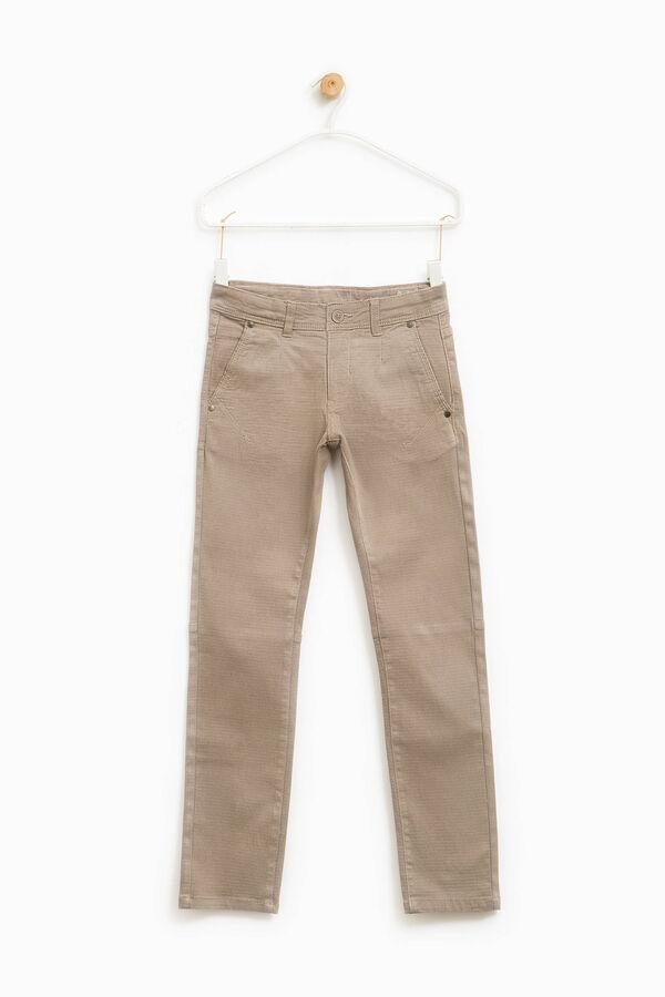 Pantaloni cotone micro fantasia | OVS
