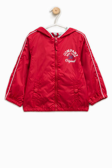 Jacket with lettering print, White/Red, hi-res