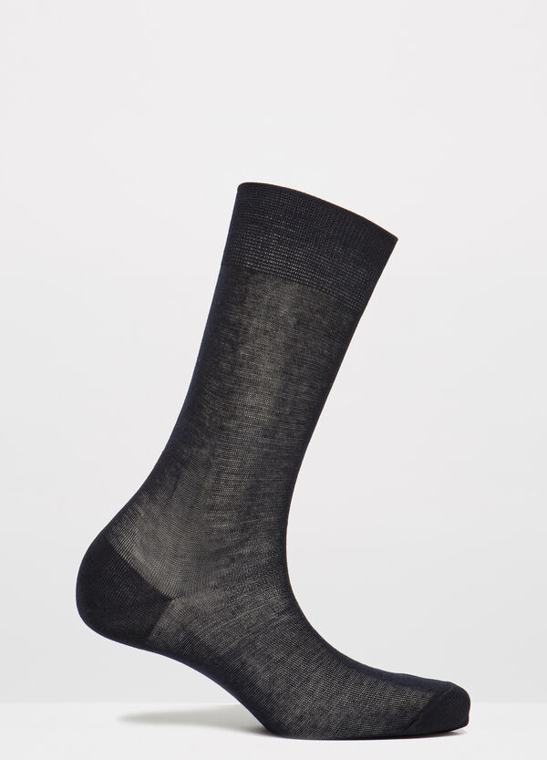 Solid colour 100% cotton short socks | OVS