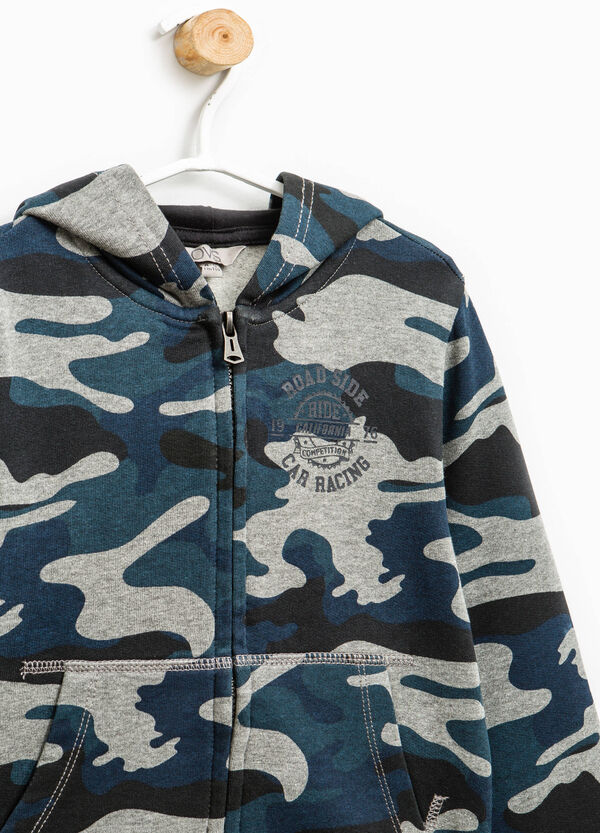 100% cotton hoodie with camouflage pattern | OVS