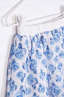 Floral pattern skirt, White, hi-res