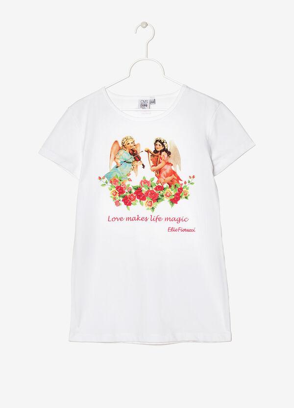 T-shirt Expo puro cotone con stampa. Designed by Elio Fiorucci | OVS