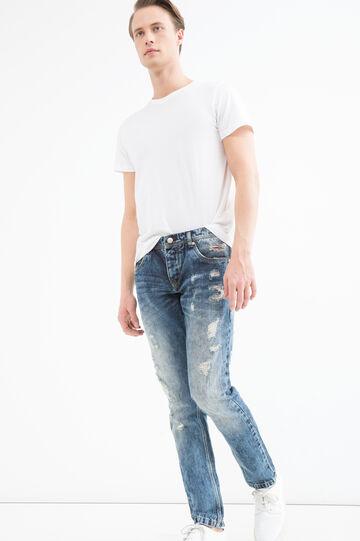 Jeans slim fit con strappi, Denim, hi-res