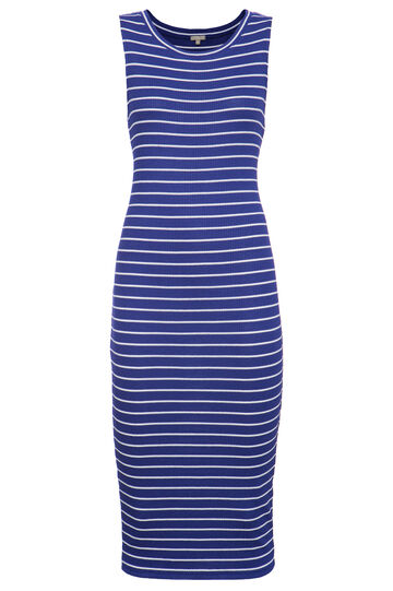 Smart Basic long striped dress, White/Blue, hi-res