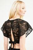 Lace crop blouse, Black, hi-res
