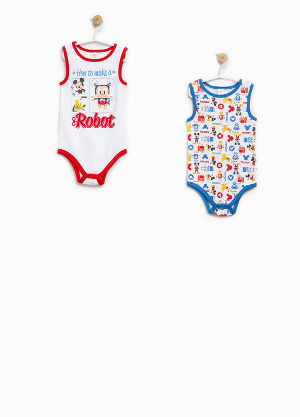 Two-pack Mickey Mouse Robot sleeveless bodysuits | OVS