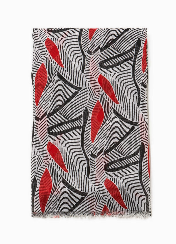 Patterned scarf in contrasting colour | OVS