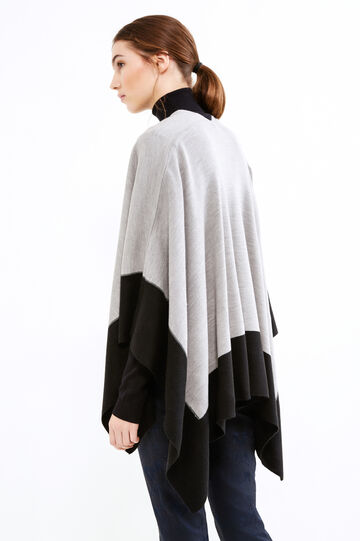 Cape with asymmetric hem, Black/Grey, hi-res