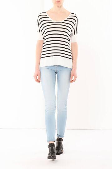 Striped jumper, White/Black, hi-res